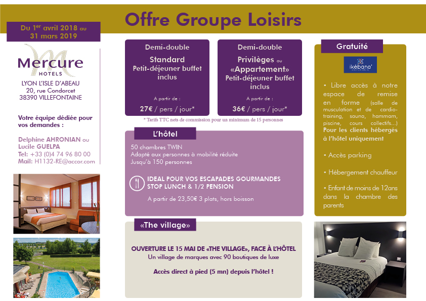 Offre Groupe Loisirs